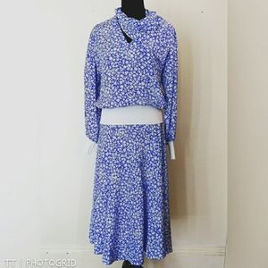 Vintage Castleberry Union Made floral skirt set